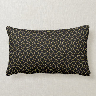 Gold-effect on Black Islamic Custom Lumbar Pillow