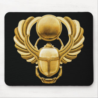 Gold Egyptian Scarab Mouse Pad