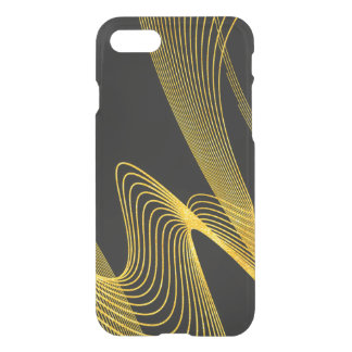 Gold Elegant- Black- iPhone 7 Clearly™ Deflector iPhone 7 Case