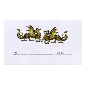 Gold Elegant Dragons Wedding Place Card Pack Of Standard Business Cards