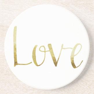Gold Elegant Love Coaster