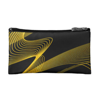 Gold Elegant - Piano Black - Cosmetic Bag