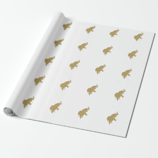Gold elephant wrapping paper