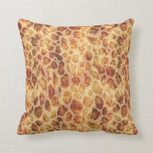 Gold Exotic Leopard Print Throw Pillows