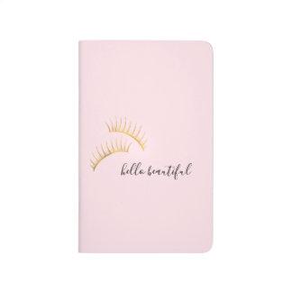 Gold Eyelashes Hello Beautiful Journal