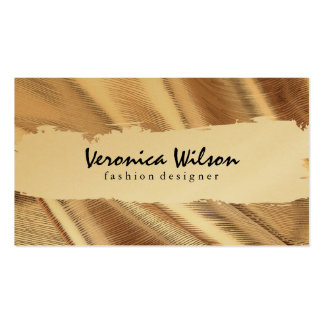 Gold Fabric with Line Threading Pack Of Standard Business Cards