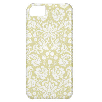 Gold fancy floral damask iPhone 5C case