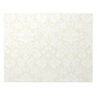 Gold fancy floral damask notepad