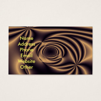 Gold Fantasy Business Cards