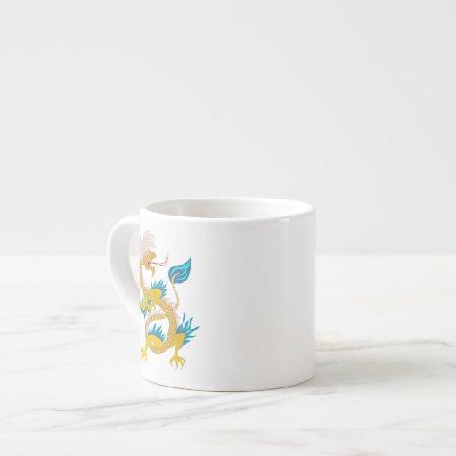 Gold Fashion Dagon on Specialty  Mug Espresso Mug