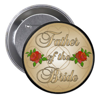 Gold Father of the Bride (FoB) Button