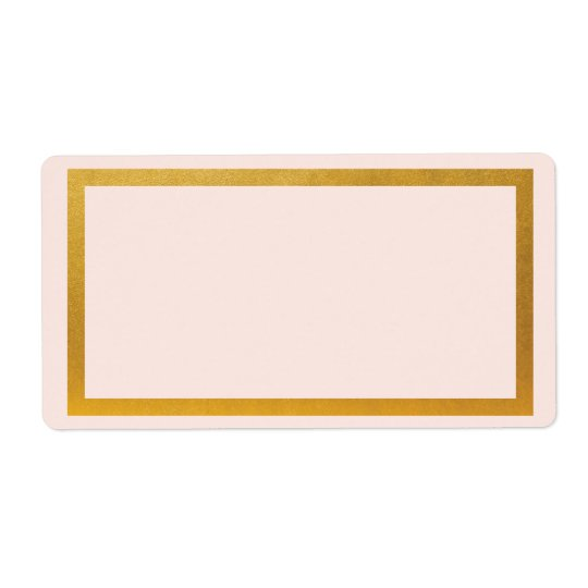 Gold faux foil blank address label