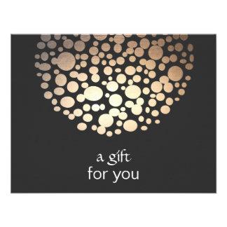 Gold Faux Foil Circles Salon Gift Certificate Personalized Invite