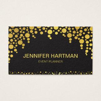 Gold Faux Foil Confetti Dots Business Card
