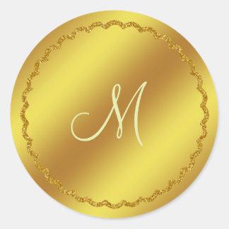 Gold Faux Foil Monogram Sticker