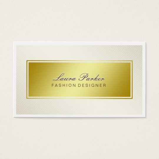 Gold Faux Foil Professional Elegant Modern Chic Business