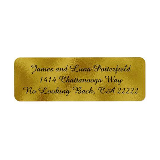 Gold faux foil Return Address Labels