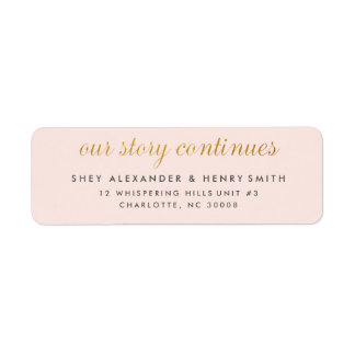 Gold faux foil save the date address label