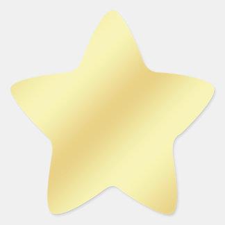 Gold Faux Foil Sticker