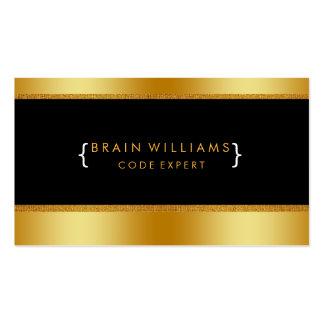 Gold Faux Foil Web Computer Professional Elegant Pack Of Standard Business Cards