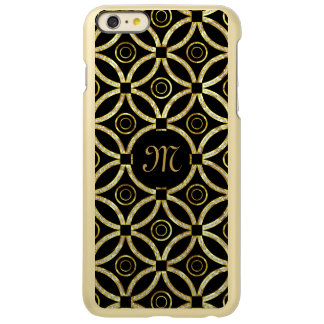 Gold Faux Glitter Modern Geometric Pattern
