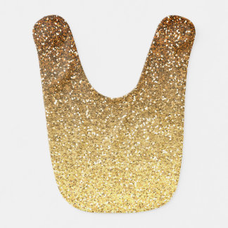 Gold Faux Glitter Ombre Bibs