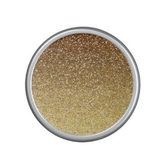 Gold Faux Glitter Ombre Speaker