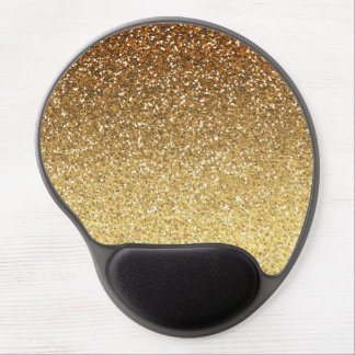 Gold Faux Glitter Ombre Gel Mouse Mat