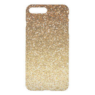 Gold Faux Glitter Ombre iPhone 7 Plus Case