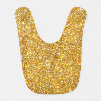 Gold Faux Glitter Pattern Girly Bling Bibs