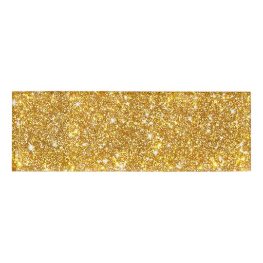 Gold Faux Glitter Pattern Modern Girly Name Tag