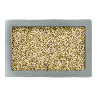 Gold Faux Glitter Rectangular Belt Buckles