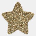 GOLD (faux) GLITTER STAR STICKERS