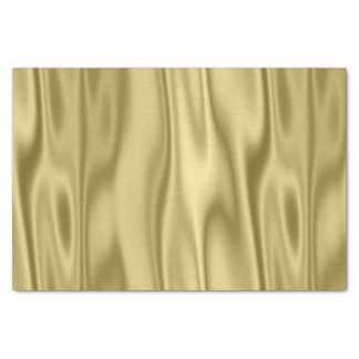 Gold Faux Satin Fabric in Folds Tissue Paper
