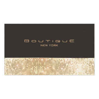 Gold FAUX Sequins Suede Look Beauty & Chic Fashion Pack Of Standard Business Cards