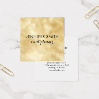 Gold Faux Shimmer Lights Elegant Professional Square Business Card