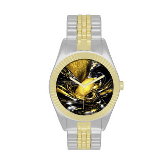 Gold Fever Abstract Wrist Watch