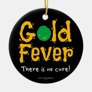 Gold Fever Round Ceramic Decoration