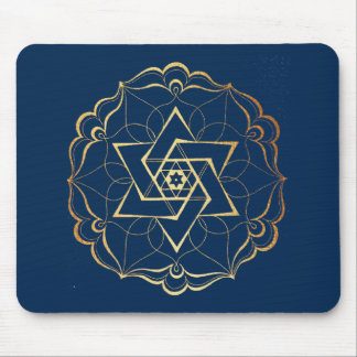 Gold filigree Star of David Mouse Mat