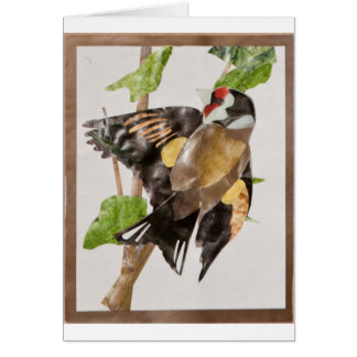 Gold finch collage card
