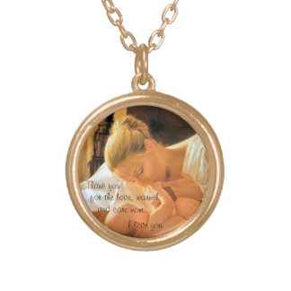 Gold finish mother's day necklace