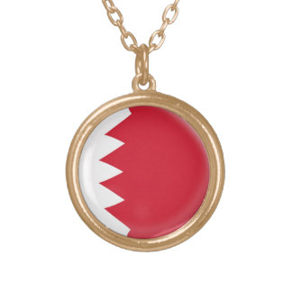 Gold finish Necklace Bahrain flag
