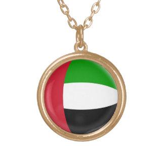 Gold finish Necklace United Arab Emirates flag