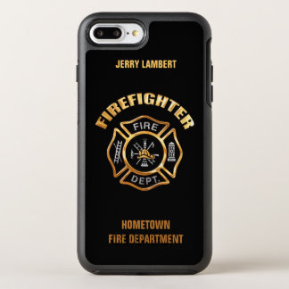 Gold Firefighter Name Template OtterBox Symmetry iPhone 8 Plus/7 Plus Case