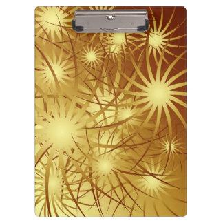 Gold Fireworks Clipboard