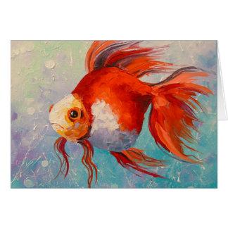 Gold fish card