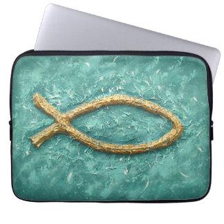 Gold Fish Christian symbol Computer Sleeve