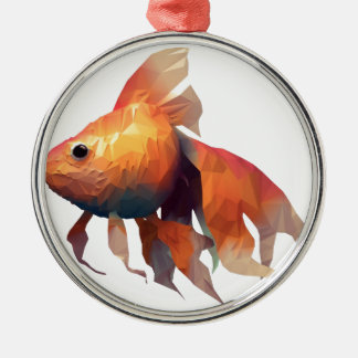 Gold Fish Christmas Ornament