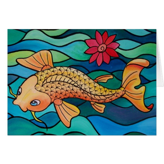 Gold Fish / Koi Pond Card