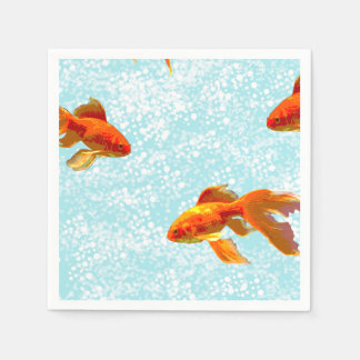 gold fish pattern paper napkin